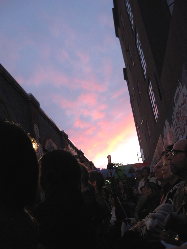 My view of Clarion Alley at Litcrawl, just before my debut reading as Vulva Fervor.