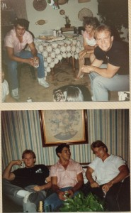 1983, just shy of 25. That's him in pink. Like I said, 1983.